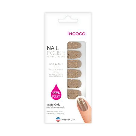 Incoco Nail Polish Applique, Invite (Nail Wraps)