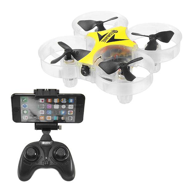 Eachine E012HW Mini WIFI FPV RC Drone 0.3MP Camera 2.4G 4CH 6 Axis Headless & Altitude Hold Mode Christmas Birthday Gifts Toys - Quadcopter RTF