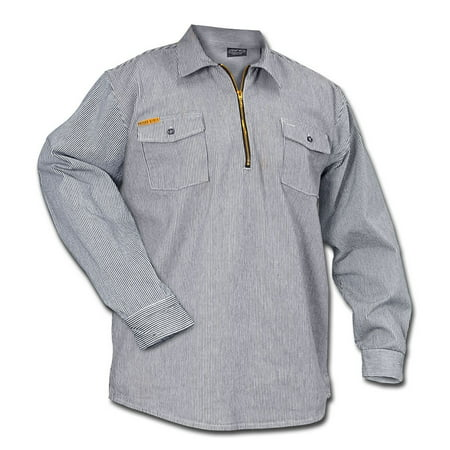 Hickory Work Shirt (Prison Blues Long Sleeve 1/2 Zip Hickory)