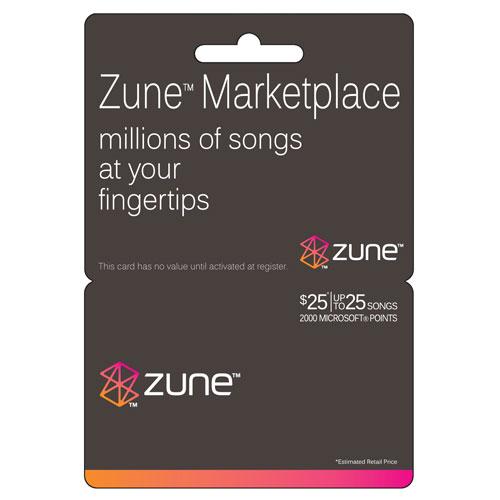 Interactive Commicat Microsoft $25 Zune Music Card