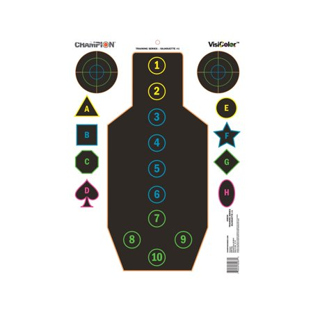 Champion Traps and Targets VisiShot Targets Training Silhouette, 18