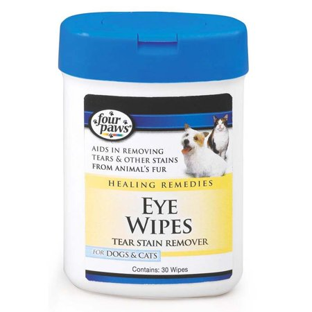 Four Paws Healing Remedy Eye Wipes For Dogs & Cats , 30 ct (Cat Eye Oversized-brille)