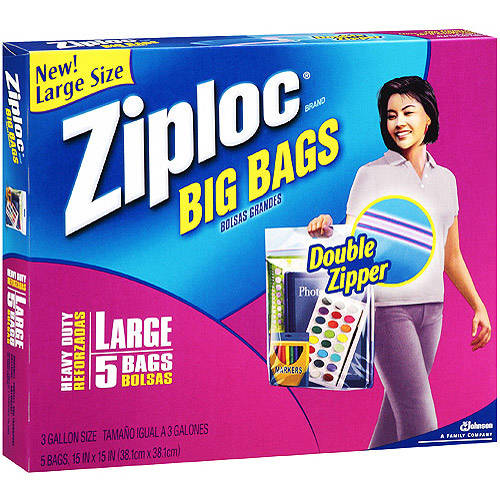 ZIPLOC BIG BAGS LARGE 5CT