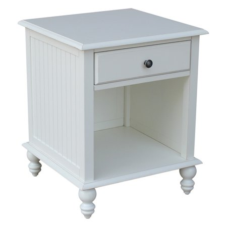 International Concepts Beach White Cottage End Table