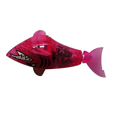 Swimming Luminous Fish Toy Baby Bath Swimming Shark Cephalaspis for Kids Children