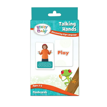 Brainy Baby Talking Hands  Discovering Sign Language Flash Card Set