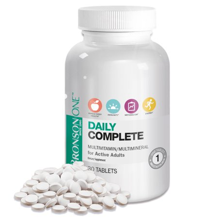 - Bronson ONE Adult Complete MultiVitamin MultiMineral, 30 Tablets