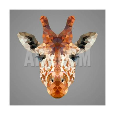 Giraffe Low Poly Portrait Print Wall Art By kakmyc](Low Poly Portrait)