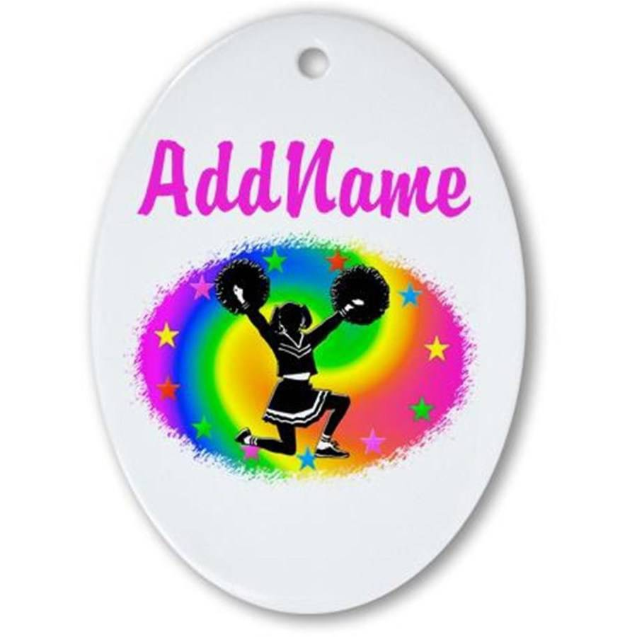 CafePress Personalized Cheering Champ Ornament, Oval