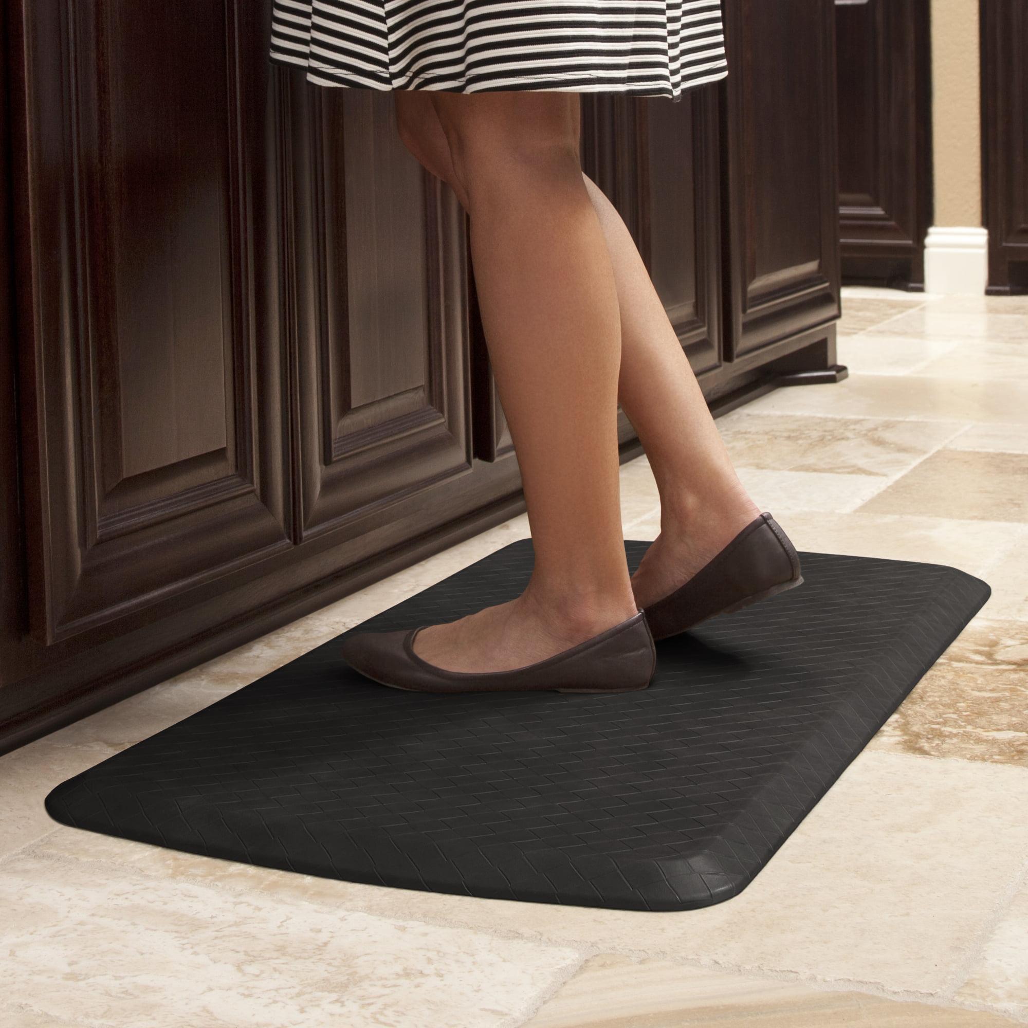 Gelpro Elite Anti Fatigue Gel Foam Kitchen Comfort Mat 20x36 Basketweave Black Walmart Com Walmart Com