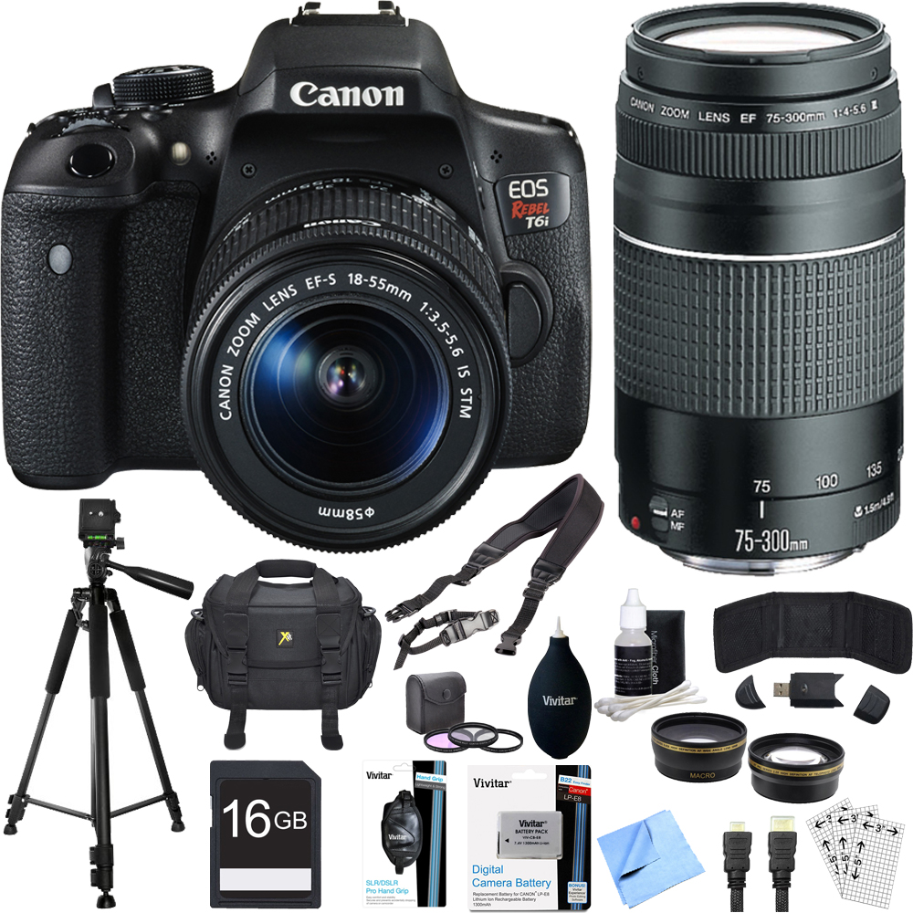 Canon EOS Rebel T6i Digital SLR Camera Kit with EF-S 18-55