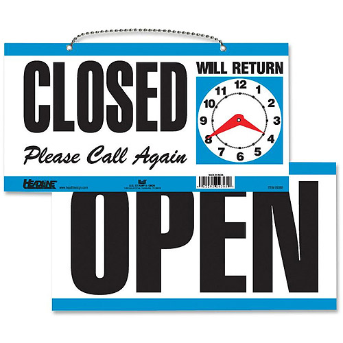 U.S. Stamp and Sign Open/Closed 2-Sided Sign