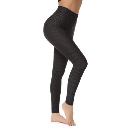 FITTOO High Waist Textured Workout Leggings Booty Scrunch Yoga Pants Butt Lift Tummy
