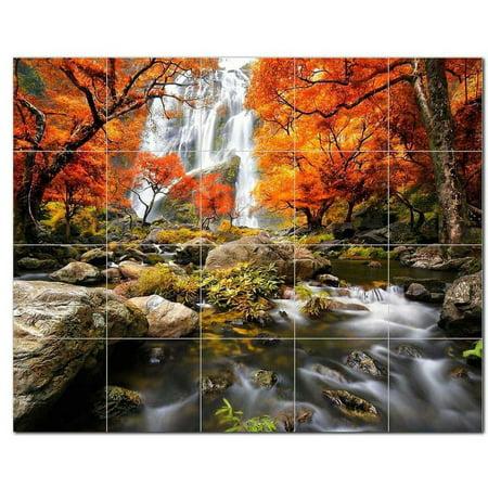 Waterfalls Ceramic Tile Mural Kitchen Backsplash Bathroom Shower 40177