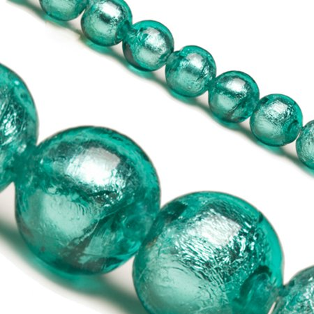 - Green Dichroic Glass Bead With Silver Color Foil 10mm Round Sold per pkg of 25 pcs/String