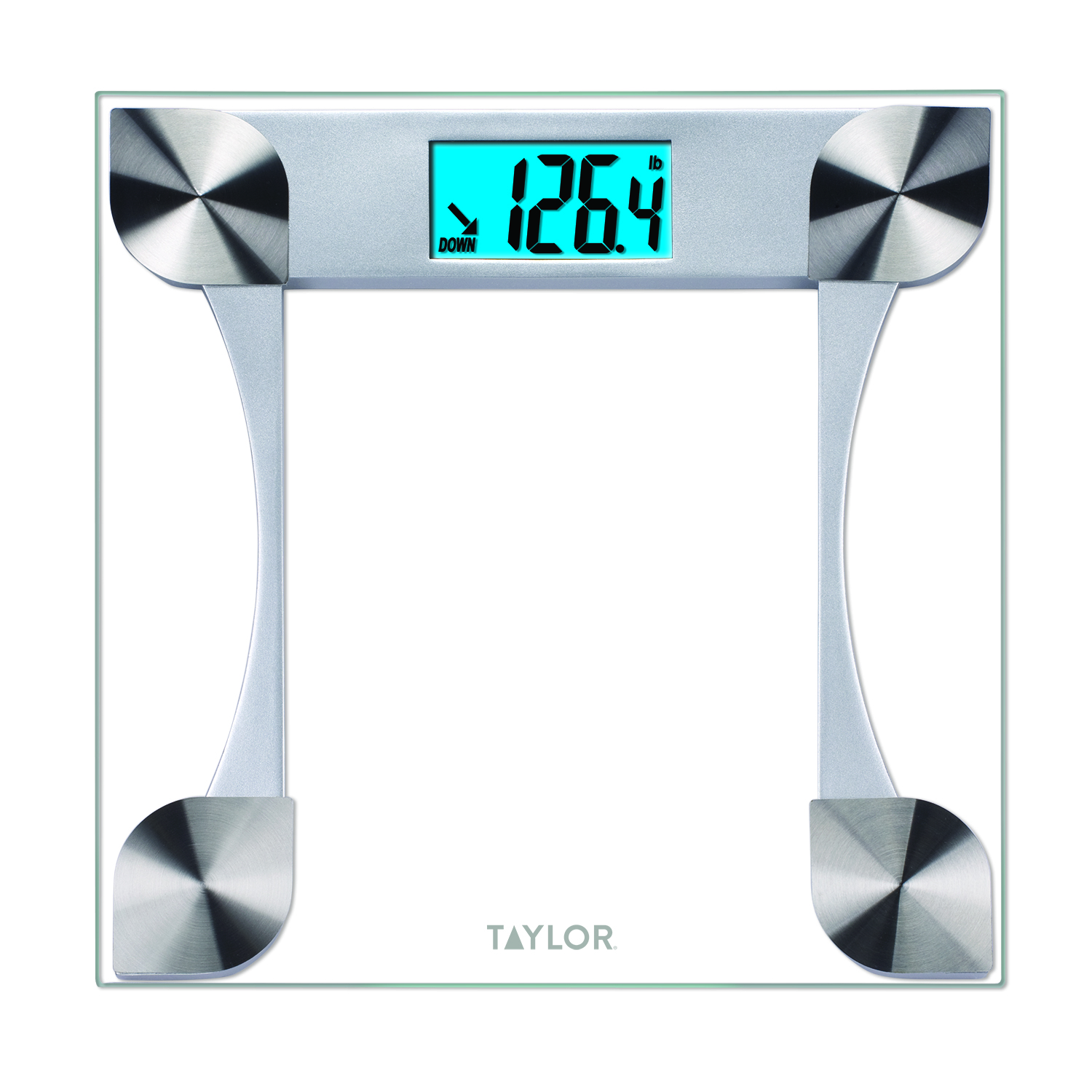 taylor 7595 digital glass bathroom scale with 2 user memory rh walmart com taylor bathroom scale instructions taylor bathroom scale battery size