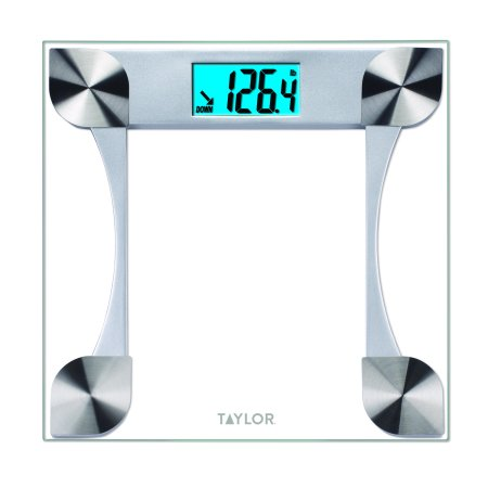 Taylor 7595 Digital Glass Bathroom Scale with 2 User Memory Digital Washdown Bench Scale