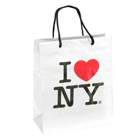 I Love NY Gift Bag for New York City Theme Parties, (8x10 inches) NYC Gift Bags, Welcome Baskets and Events, Officially Licensed Product By CitySouvenirs