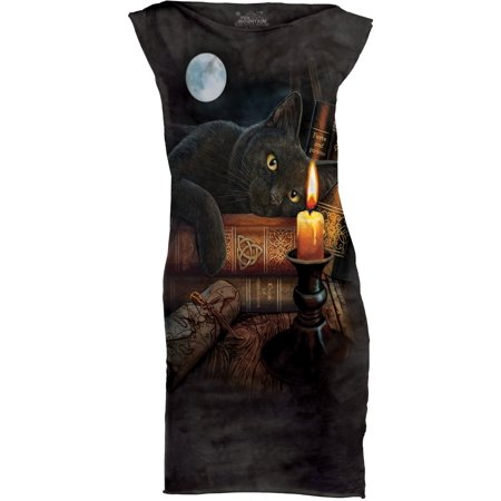 The Mountain Black Cotton The Witching Hour Novelty Womens T Shirt Dress New