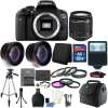 Canon EOS Rebel T6 DSLR Camera + EF-S 18-55mm IS II Lens Kit + 32GB Top Bundle Canon EOS Rebel T6 DSLR Camera + 18-55mm + 58mm Filter Kit + Macro Kit + Wide Angle Lens + Telephoto Lens + 32GB Memory Card + Wallet + Reader + Slave Flash + Gadget Bag + Tall Tripod + 3pc Cleaning Kit + Small Tripod