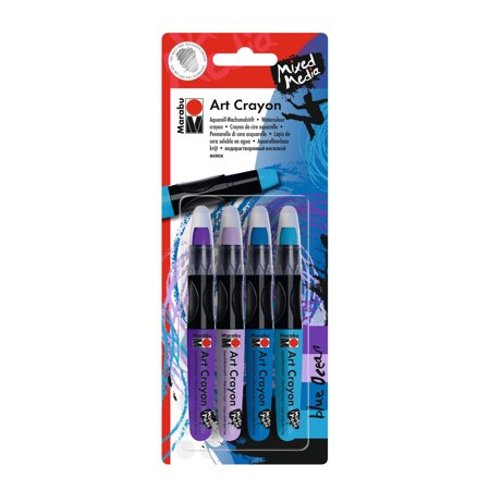 Marabu Art Crayon Set, 5-Colors, Blue Ocean (Crayon Art)