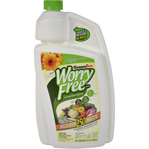 Garden Tech Worry Free Insecticide And Miticide Concentrate, 32 Oz