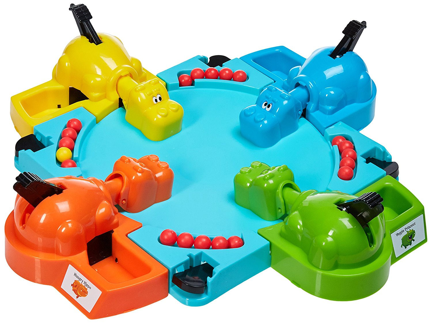 Hungry Hungry Hippos, Classic Hungry Hippos game has 4 hippo heads and bodies plus marbles... by