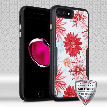 For iPhone 8 / 7 Plus TUFF Contempo Hybrid Armor Phone Protector Case Cover