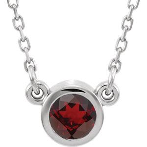 "14K White Mozambique Garnet 16"" Necklace by"
