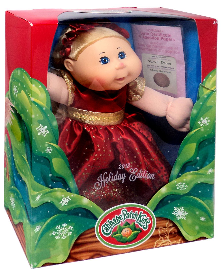 Cabbage Patch Kids 2018 Holiday Edition Pamela Donna Doll by