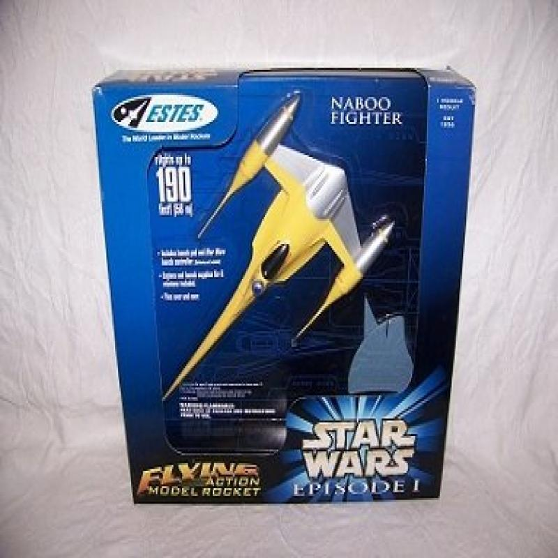 Estes Flying Model Rocket Star Wars Episode I Naboo Fighter by