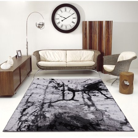 - Ladole Rugs Anise Soft Durable Art Style Abstract Modern Europe Polypropylene Area Rug Carpet in Grey-Cream, 3x5 (2'7