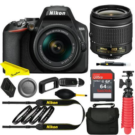 Nikon D3500 DSLR Camera with 18-55mm Lens24.2MP CMOS sensor and EXPEED 4 image processor+64Gb memory card +accessories bundle