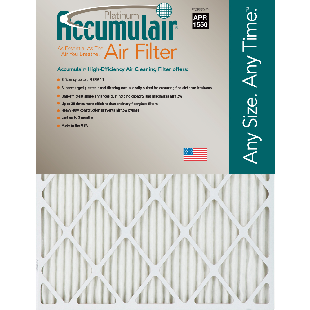 12 Nom Height x 24 Nom Width x 4 Nom Depth Synthetic Wire-Backed Pleated Air Filter Made in USA 3 Pack