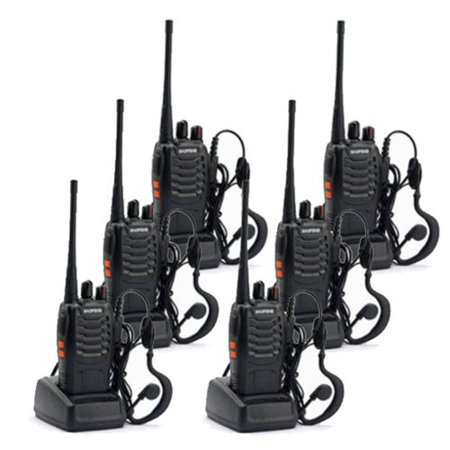 Zimtown 6 * Baofeng BF-888S Walkie Talkie 2 Two Way Radio Handheld Long Range
