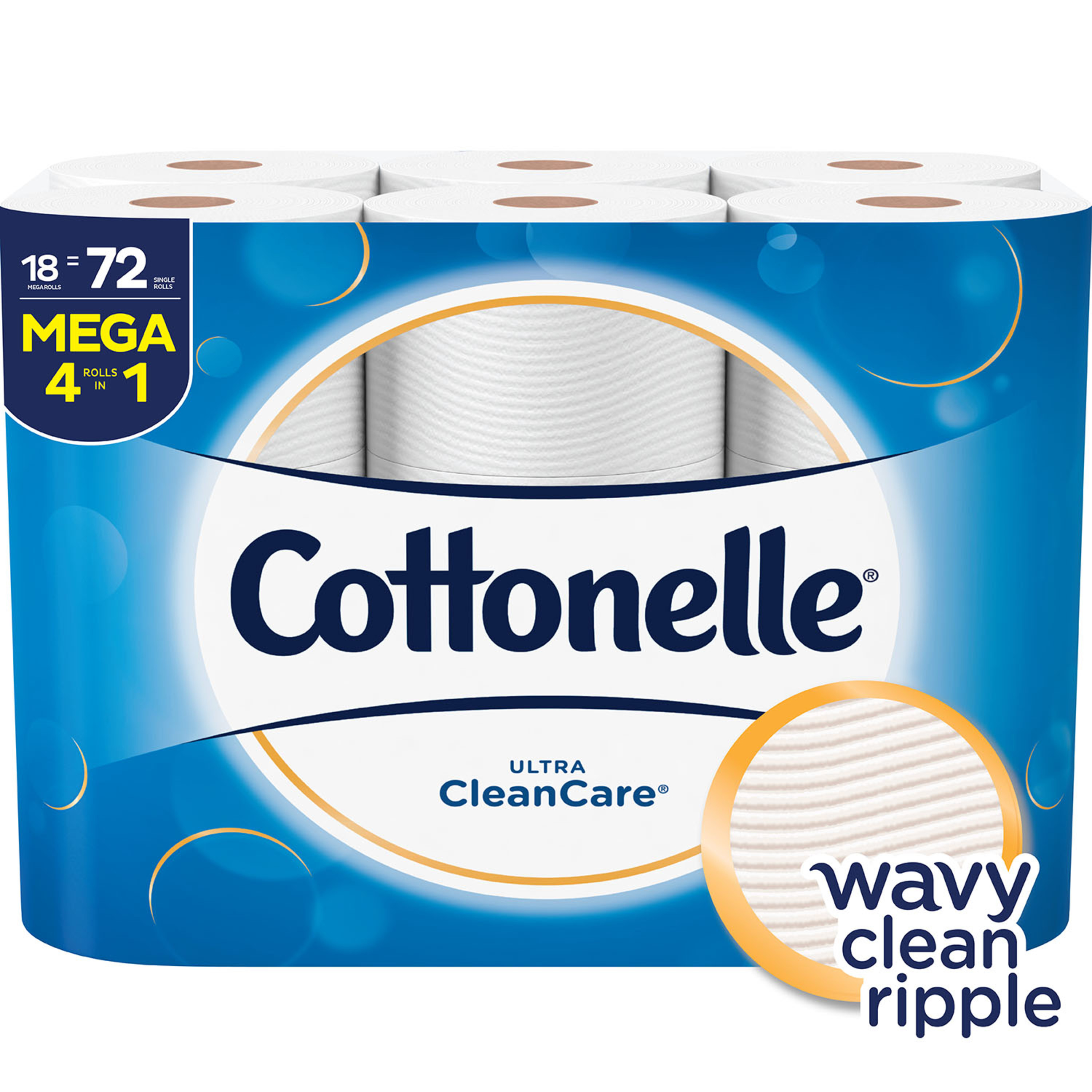Cottonelle Ultra CleanCare 18 Mega Rolls, Toilet Paper, Strong