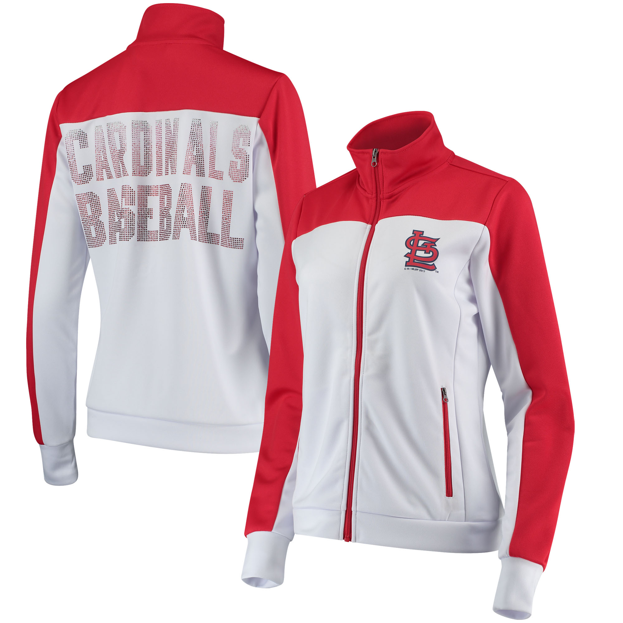 St. Louis Cardinals G-III 4Her by Carl Banks Women's Play Maker Track Jacket - White/Red