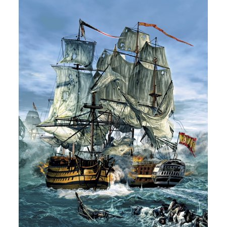 Naval warfare was dominated by sailing ships from the 16th to the mid 19th century Poster Print by Kurt MillerStocktrek Images