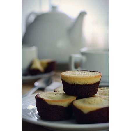 Laminated Poster Food Teatime Muffins Brownies Breakfast Homemade Poster Print 11 x