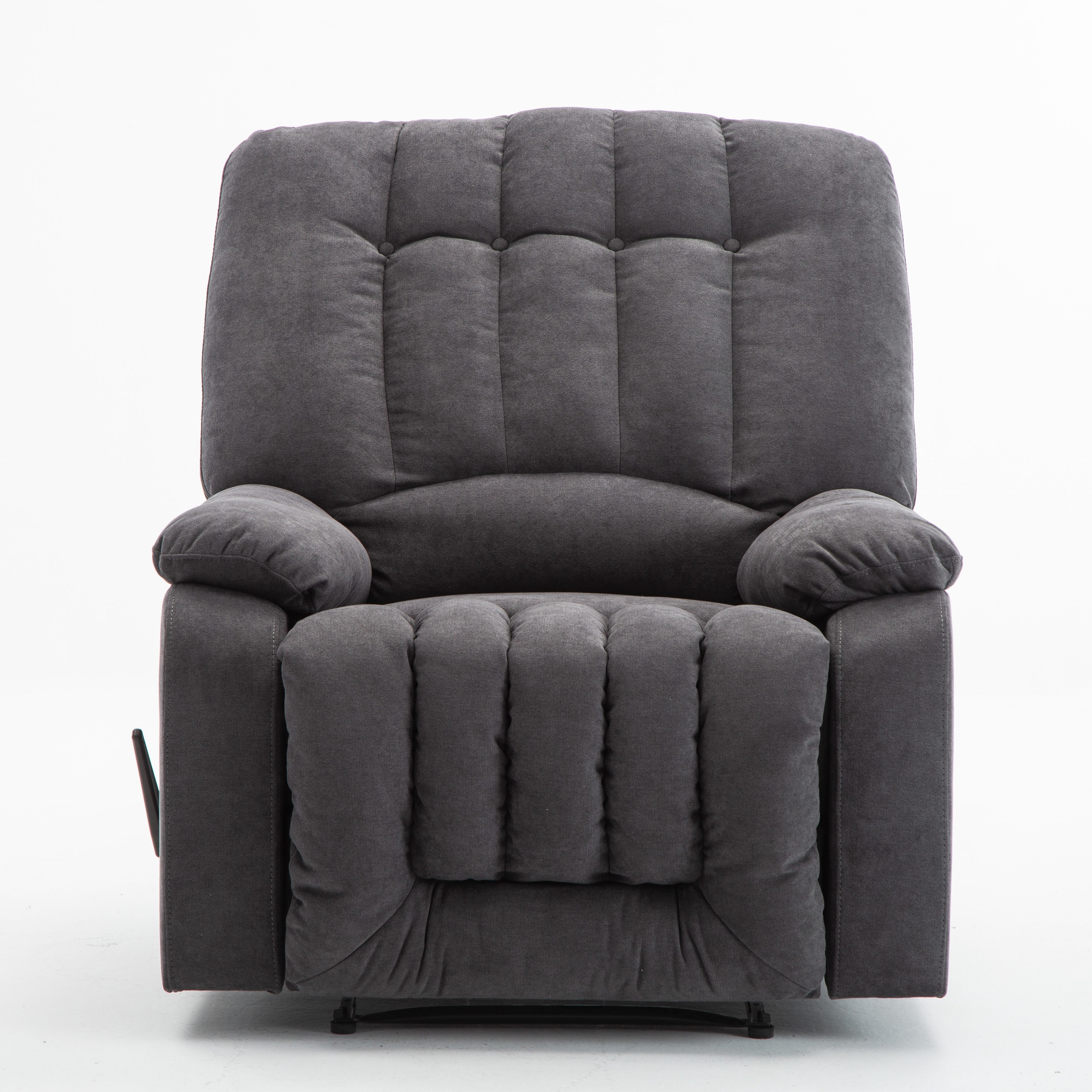 manual recliner chair  overstuffed comfortable yarndyed