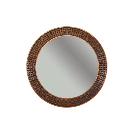 Premier Copper Products Braided Hand Hammered Round Copper Mirror