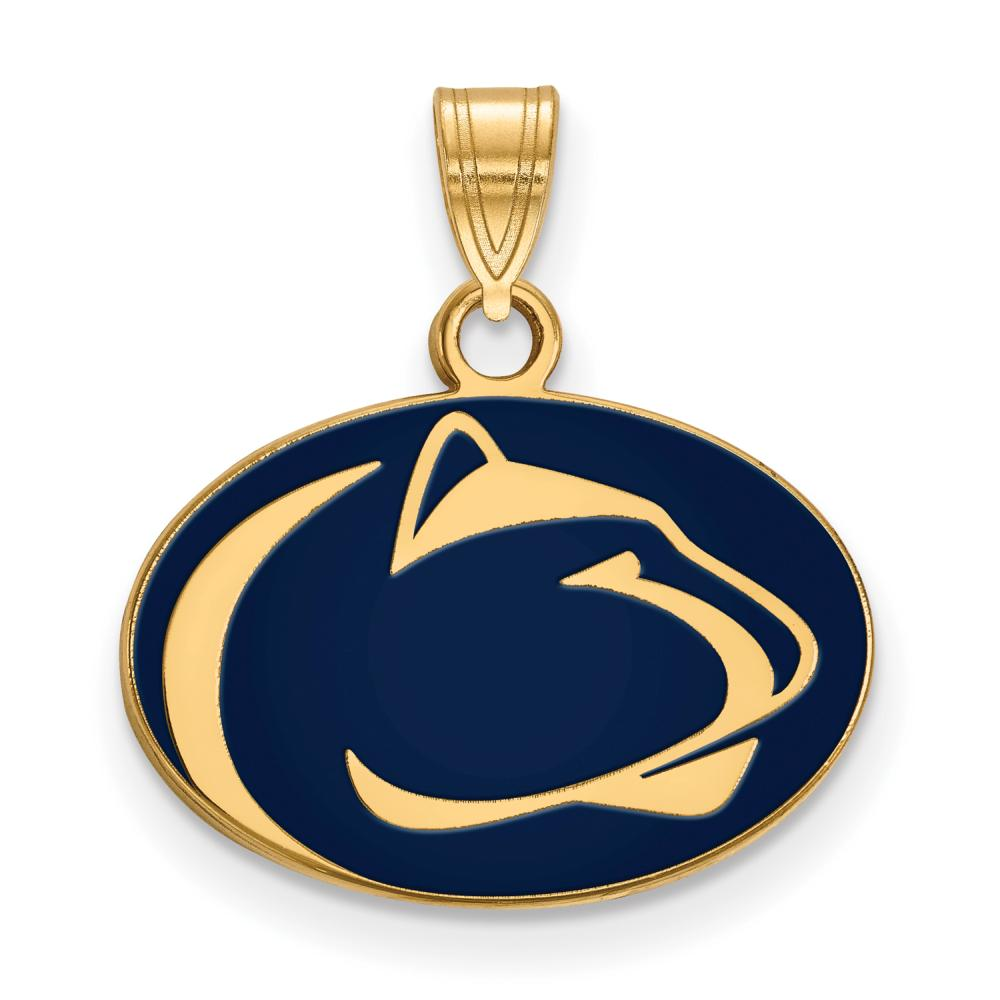 Penn State Small (1/2 Inch) Enamel Pendant (Gold Plated)