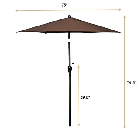 Gymax 6ft Outdoor Patio Backyard Garden Umbrella with Steady Iron Pipe Ribs - image 4 of 8