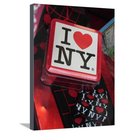 Souvenirs, I Love Ny, for Sale in a Gift Shop in Rockefeller Center, New York City, New York, Usa Stretched Canvas Print Wall Art By Bruce Yuanyue