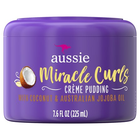 For Curly Hair - Aussie Paraben-Free Miracle Curls Cream Pudding w/ Coconut, 7.6 fl
