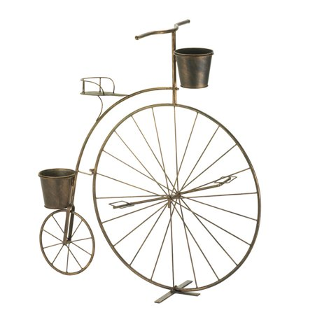 Tall Planters, Wrought Iron Plant Stand, Tall  Old-fashioned Bicycle Plant Stand Tall Iron Stand