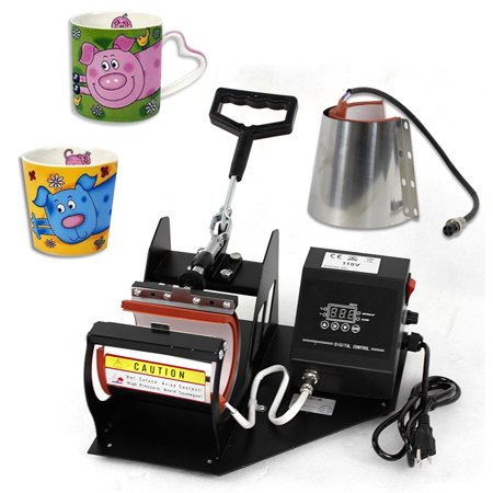 Zeny 2in1 Digital Display Heat Press Transfer Sublimation Machine for Cup Coffee Mug