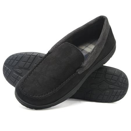 Hanes Hanes Mens Moccasin Slipper House Shoe With Indoor Outdoor
