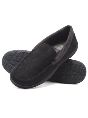 c4366f8f370a9 Product Image Hanes Men s Moccasin Slipper House Shoe With Indoor Outdoor  Memory Foam Sole Fresh IQ Odor Protection