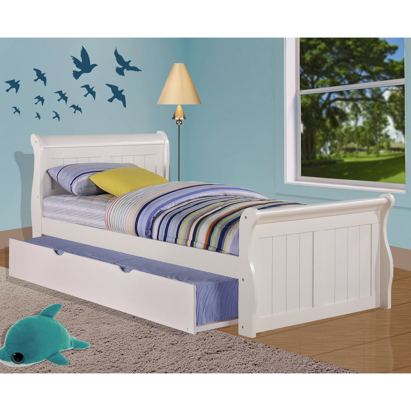 Pivot Direct PD_325 Donco Kids Sleigh Bed with Trundle Bed ...
